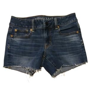 American Eagle Super Stretch Shortie Denim Shorts